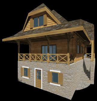 Kuća tip 1 - Eko selo Ruža Vetrova